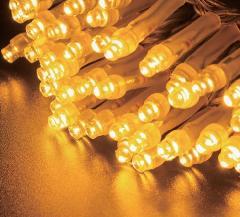 2芯LEDストリングライトVer.�U 2C100SG2 シャンパンゴールド クリアコード・100球10M