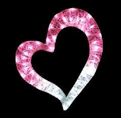 クリスタルグロー・ハート(大) PHEARTB ピンク×ホワイト