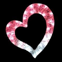 クリスタルグロー・ハート(小) PHEARTS ピンク×ホワイト