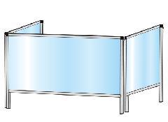 TOKISEI HBP3F450×900・HBP3F450×900E パーテーションスタンド 三面タイプ(下部開口125mm)