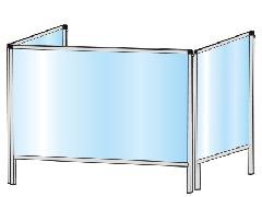 TOKISEI HBP3F600×900・HBP3F600×900E パーテーションスタンド 三面タイプ(下部開放125mm)