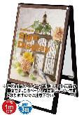 TOKISEI ブラックポスター用スタンド看板 B2 両面 BPSSK-B2RB(黒)&ゴールドビス