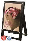 TOKISEI ブラックポスター用スタンド看板 A3縦 片面 BPSSK-A3TKB