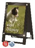 TOKISEI ブラックポスター用スタンド看板 A3縦 両面 BPSSK-A3TRB