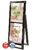 TOKISEI ブラックポスター用スタンド看板 A3縦縦 片面 BPSSK-A3TTKB