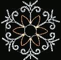 BIGスノーフレーク10 WSGSNOW010 ホワイト×シャンパンゴールド