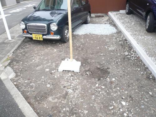 愛知県名古屋市で駐車場砕石搬入作業