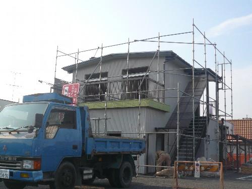 愛知県江南市の鉄骨造2階建て店舗解体工事