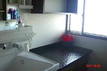 洗面所 タイル施工 一戸建て