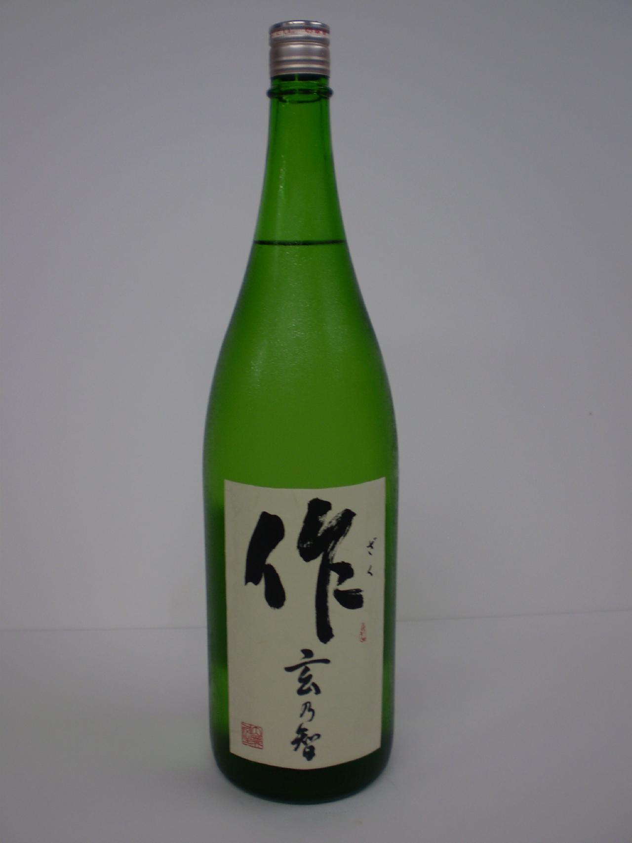 作(ざく)純米 玄乃智 1800ml 清水清三郎商店