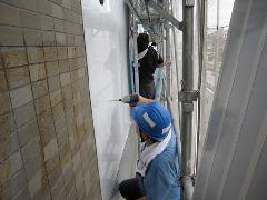 スポーツクラブの壁面看板(東京都 練馬区)