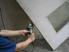 防火戸の下部枠当たり不良の修理事例