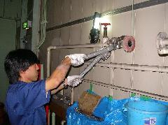 屋内消火栓補助水槽チャッキ弁交換工事