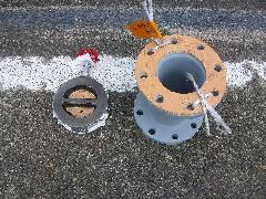 RF補助水槽チャッキ弁交換工事