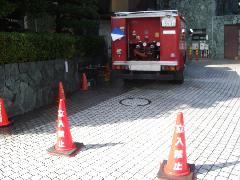 連結送水管耐圧試験風景追加
