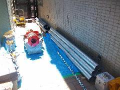 連結送水管配管改修工事事例