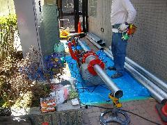 連結送水管配管改修工事事例�A