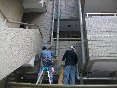 連結送水管配管改修工事事例�B