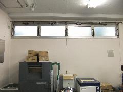 ワンタッチ式排煙窓への修理事例