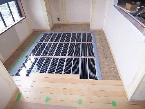 床工事/床暖房フィルム貼り
