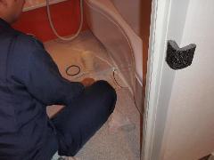 浴室からの排水管洗浄