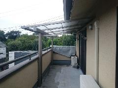 川崎市多摩区 Y様邸 バルコニーテラス屋根新設工事