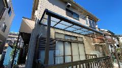 川崎市 H O様邸 テラス(庇)屋根貼り替え工事