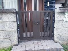 さいたま市 S様邸 開き戸門扉工事
