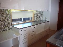 キッチンの背面カウンター