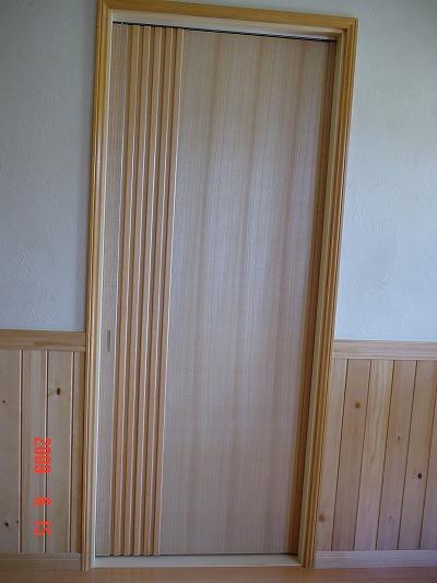 タモ材突き板 デザイン引き戸