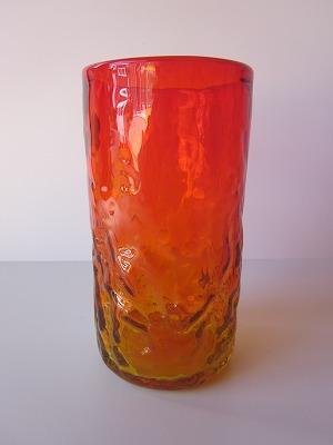琉球グラス「でこぼこファッショングラス」オレンジ