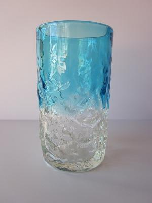 琉球グラス「でこぼこファッショングラス」水色