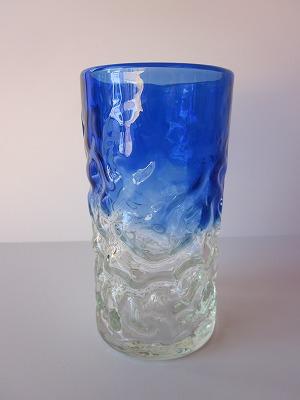 琉球グラス「でこぼこファッショングラス」青色