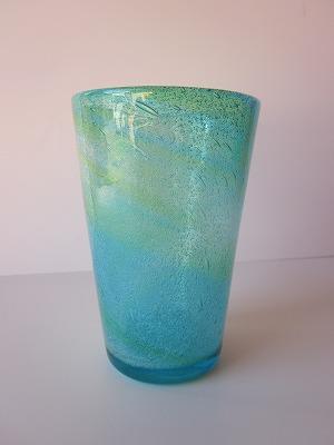 琉球グラス「海の色のタンブラー」水/緑