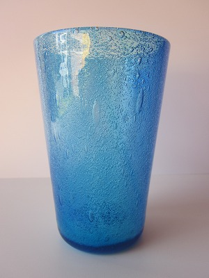 琉球グラス「海の色のタンブラー」青/水
