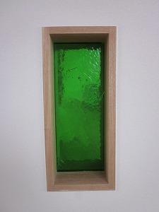 縦長板ガラスブロック グリーン 30cm×15cm