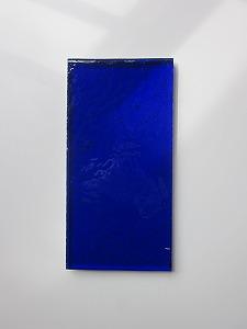 縦長板ガラスブロック ダークブルー 30cm×15cm
