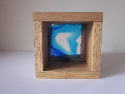 ガラスブロック マーブル 10cm