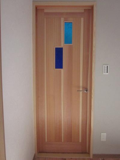 杉無垢源平材洋間ドア