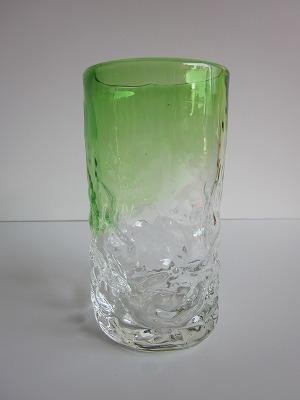 琉球グラス「でこぼこファッショングラス」緑色