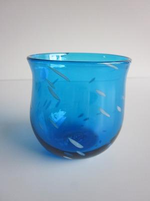 琉球グラス「ジンベイたるグラス」水色