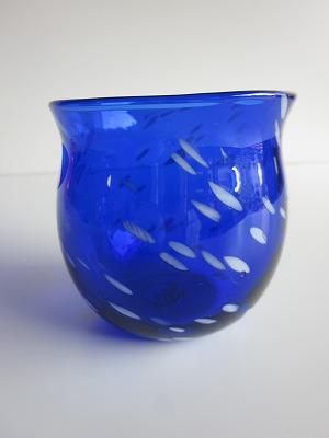琉球グラス「ジンベイたるグラス」青色