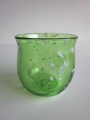 琉球グラス「ジンベイたるグラス」緑色