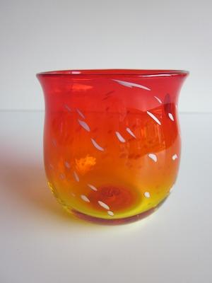 琉球グラス「ジンベイたるグラス」オレンジ