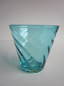 琉球グラス「ちゅらさんグラス」水色