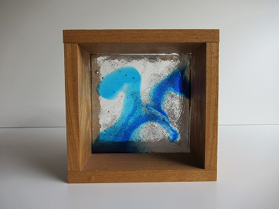 ガラスブロック マーブル 15cm