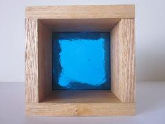 板ガラスブロック ライトブルー 10cm