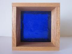 板ガラスブロック ダークブルー 15cm