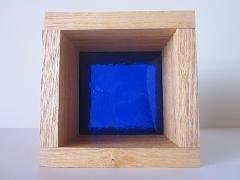 板ガラスブロック ダークブルー 10cm