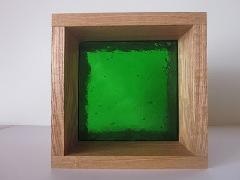 板ガラスブロック グリーン 15cm